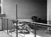 Dachterrasse 6-Zimmerhaus. Foto Grete Hubacher, Nachlass Haefeli, Moser, Steiger, gta Archiv.
